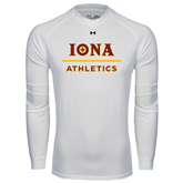 Under Armour White Long Sleeve Tech Tee-Athletics