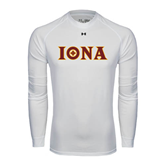 Under Armour White Long Sleeve Tech Tee-Iona Wordmark
