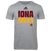 Adidas Sport Grey Logo T Shirt-Adidas Iona Gaels Logo