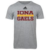 Adidas Sport Grey Logo T Shirt-Adidas Iona Athletics Logo