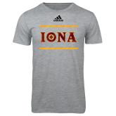 Adidas Sport Grey Logo T Shirt-Adidas Iona Logo