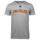 Adidas Climalite Sport Grey Ultimate Performance Tee-Arched Iona College