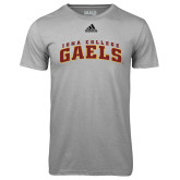 Adidas Climalite Sport Grey Ultimate Performance Tee-Arched Iona College Gaels