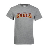 Grey T Shirt-Arched Iona College Gaels