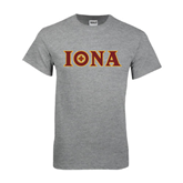 Grey T Shirt-Iona Wordmark