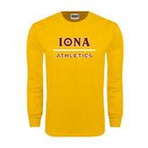 Gold Long Sleeve T Shirt-Athletics