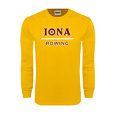 Gold Long Sleeve T Shirt-Rowing