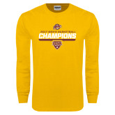Gold Long Sleeve T Shirt-MAAC Mens Basketball Champs