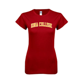 Next Level Ladies Softstyle Junior Fitted Cardinal Tee-Arched Iona College