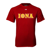 Under Armour Cardinal Tech Tee-Iona Wordmark