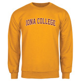Gold Fleece Crew-Arched Iona College