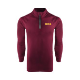 Under Armour Maroon Tech 1/4 Zip Performance Shirt-Iona Wordmark