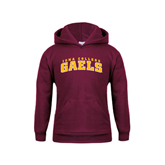 Youth Maroon Fleece Hoodie-Arched Iona College Gaels