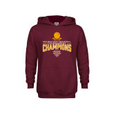 Youth Maroon Fleece Hoodie-2018 Mens Basketball Champions - Net w/ Basketball