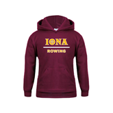 Youth Maroon Fleece Hoodie-Rowing