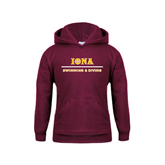 Youth Maroon Fleece Hoodie-Swimming and Diving