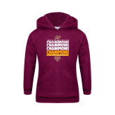 Youth Maroon Fleece Hoodie-MAAC Mens Basketball Champs