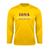 Performance Gold Longsleeve Shirt-Athletics