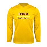Performance Gold Longsleeve Shirt-Baseball