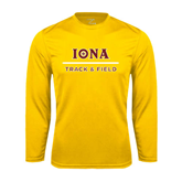 Performance Gold Longsleeve Shirt-Track and Field