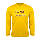 Performance Gold Longsleeve Shirt-Lacrosse