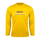 Performance Gold Longsleeve Shirt-Swimming and Diving