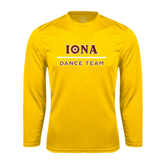 Performance Gold Longsleeve Shirt-Dance Team