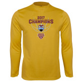 Syntrel Performance Gold Longsleeve Shirt-MAAC Mens Basketball Champs