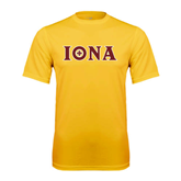 Syntrel Performance Gold Tee-Iona Wordmark