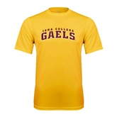Performance Gold Tee-Arched Iona College Gaels