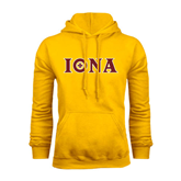 Gold Fleece Hoodie-Iona Wordmark