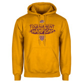 Gold Fleece Hoodie-2018 Mens Basketball Champions - Brush