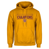 Gold Fleece Hoodie-2018 Mens Basketball Champions - Box
