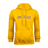 Gold Fleece Hoodie-Arched Iona College