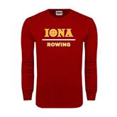 Cardinal Long Sleeve T Shirt-Rowing