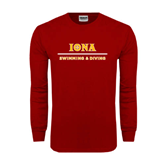 Cardinal Long Sleeve T Shirt-Swimming and Diving