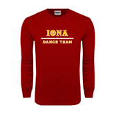 Cardinal Long Sleeve T Shirt-Dance Team