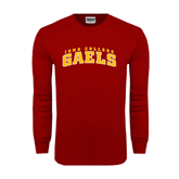 College  Cardinal Long Sleeve T Shirt-Arched Iona College Gaels