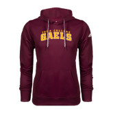 Adidas Climawarm Maroon Team Issue Hoodie-Arched Iona College Gaels