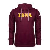 Adidas Climawarm Maroon Team Issue Hoodie-Iona Wordmark