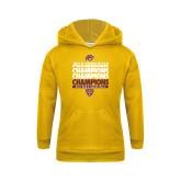 Youth Gold Fleece Hoodie-MAAC Mens Basketball Champs