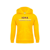 Youth Gold Fleece Hoodie-Swimming and Diving