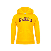 Youth Gold Fleece Hoodie-Arched Iona College Gaels