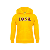 Youth Gold Fleece Hoodie-Iona Wordmark