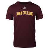 Adidas Maroon Logo T Shirt-Arched Iona College