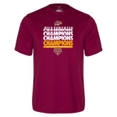 Performance Maroon Tee-MAAC Mens Basketball Champs