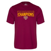 Performance Maroon Tee-2018 Mens Basketball Champions - Box