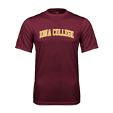 Performance Maroon Tee-Arched Iona College