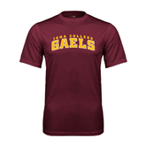 Performance Maroon Tee-Arched Iona College Gaels