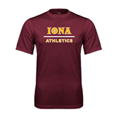 Performance Maroon Tee-Athletics